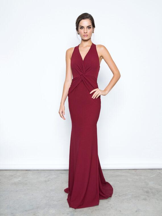 vestido longo vermelho max glamm