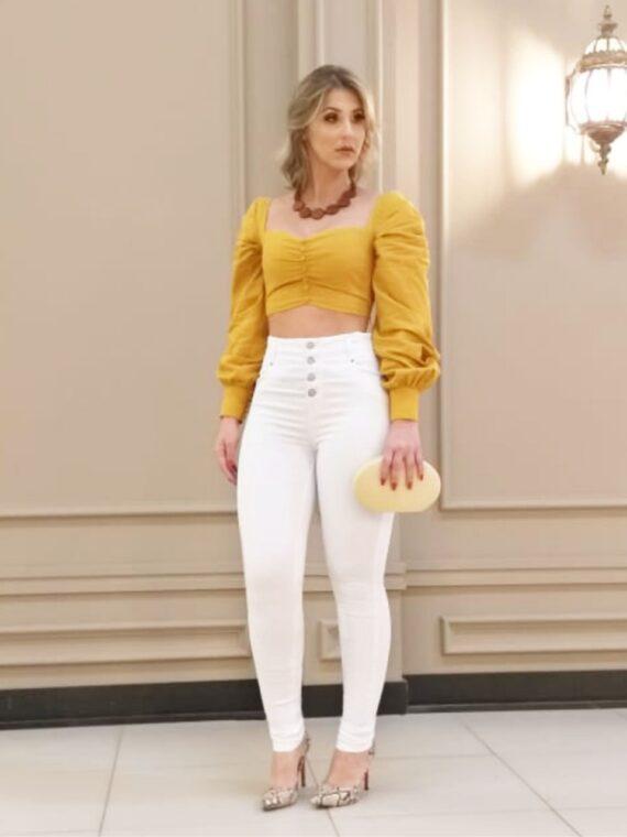 calça branca bebela jeans