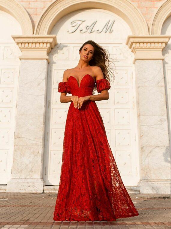 vestido longo vermelho splash