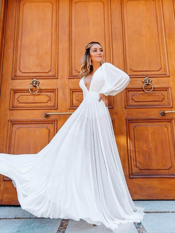 vestio branco longo splash