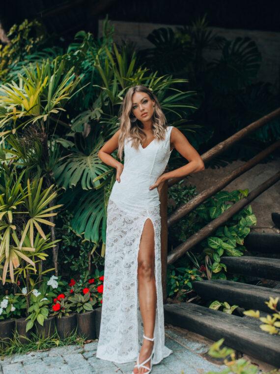 vestido longo branco bordado 44065