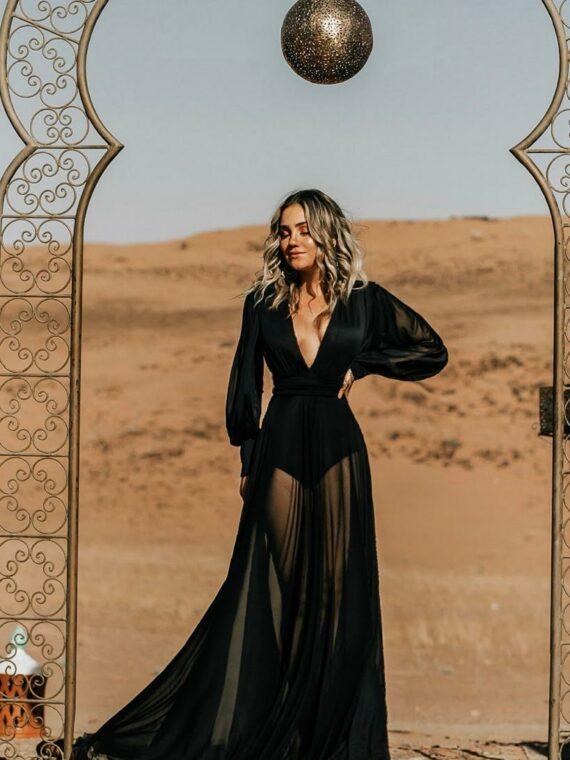 vestido preto lindo