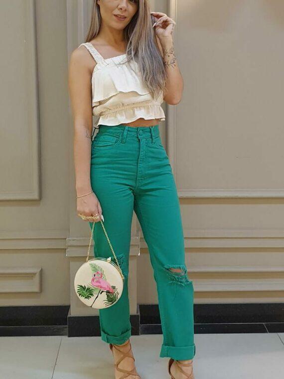 Calça verde Bebela Jeans