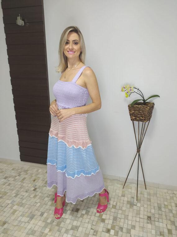 Vestido midi Candy de tricô (3)