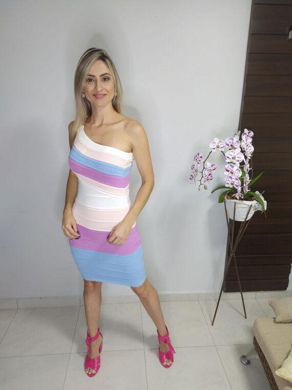 Vestido trançado Candy de tricô (3)