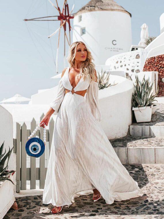 vestido longo branco anelise splash