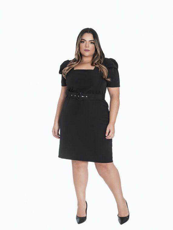 vestido preto plus