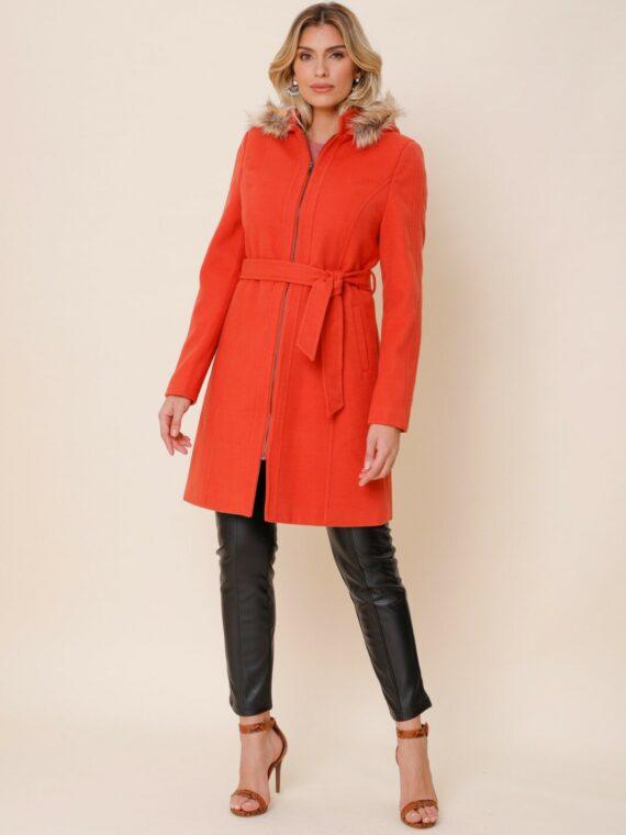 casaco lã alongado